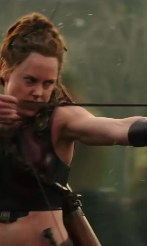 Ingrid Bolsø Berdal with Weta Workshop Custom Made Atalanta Bow & Arrow (Atalanta) in Hercules