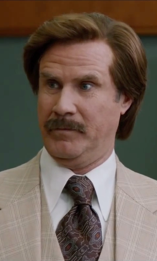 Will Ferrell with Polo Ralph Lauren Classic-Fit Pinpoint Oxford in Anchorman 2: The Legend Continues