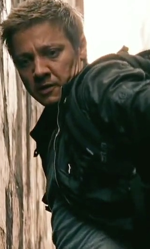 Jeremy Renner with Belstaff H Racer Cardigan Jacket in The Bourne Legacy