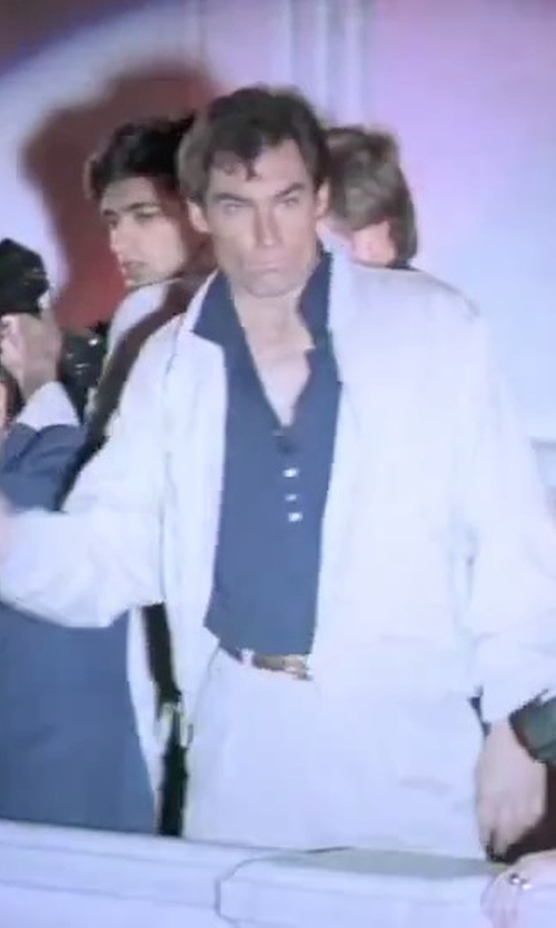 Timothy Dalton with Dsquared2 Bomber Jacket in The Living Daylights