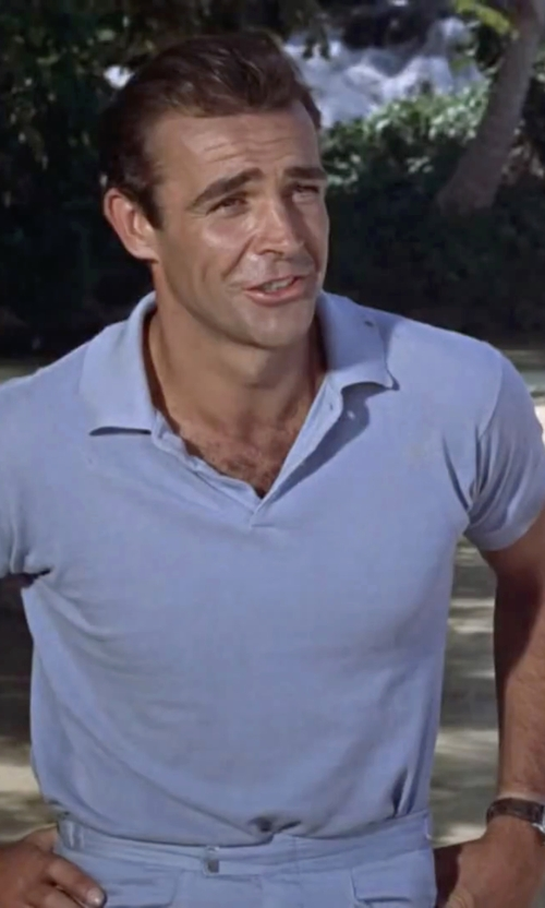 Sean Connery with Ministry of Supply Apollo Polo Shirt in Dr. No