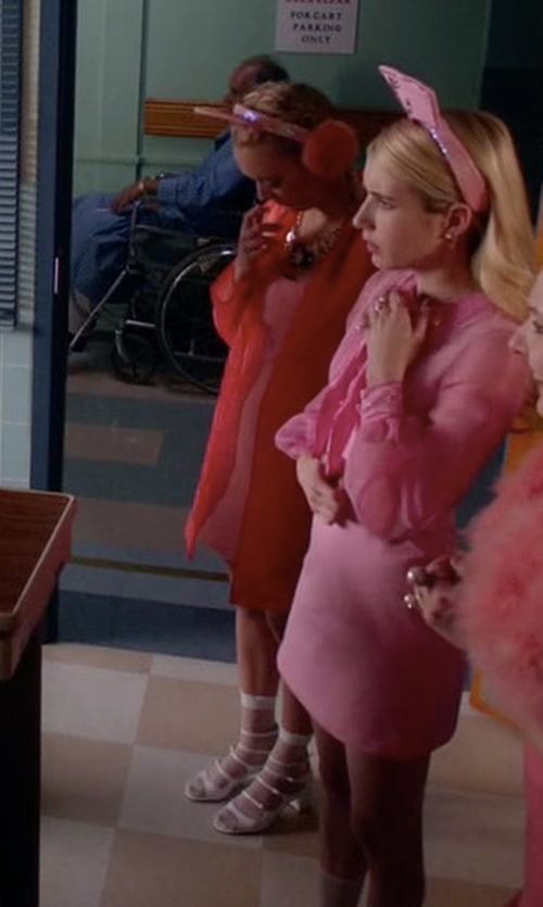 Billie Lourd with Hue Sheer Ankle Socks in Scream Queens