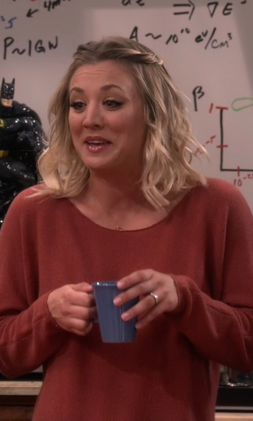 Kaley Cuoco-Sweeting with Joie Margeaux Cashmere Sweater in The Big Bang Theory