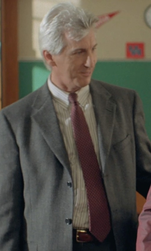 Marco Perella with Hugo Boss Dotted and Micro Checkered Silk Tie in Boyhood
