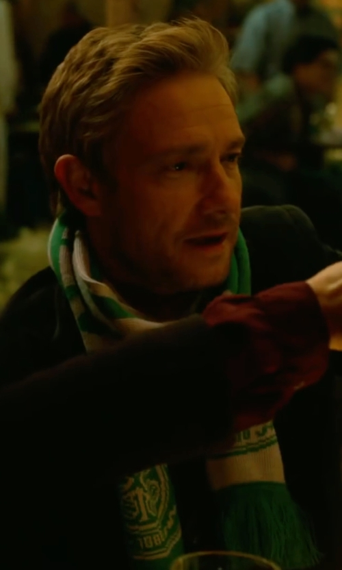 Martin Freeman with Celtic FC Football/Soccer Crest Wordmark Scarf in Whiskey Tango Foxtrot