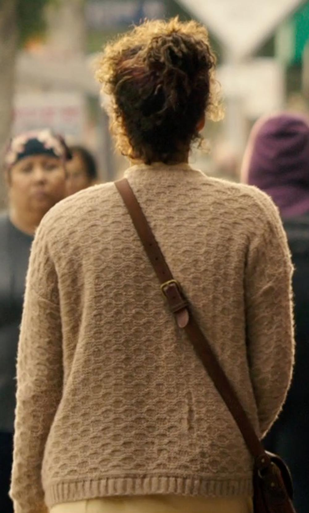 Carmen Ejogo with Latico Carolina Cross Body Bag in The Purge: Anarchy