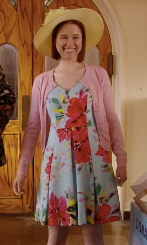 Ellie Kemper with Trina Turk Aniya Dress in Unbreakable Kimmy Schmidt