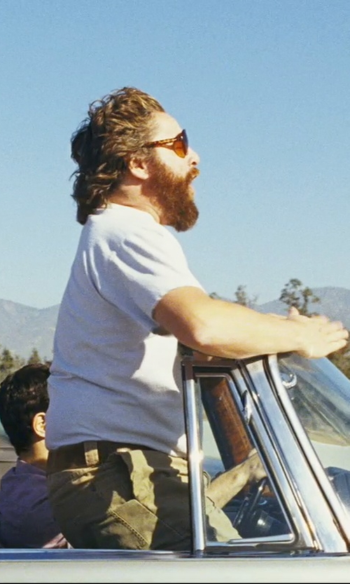 Zach Galifianakis with (+) People Mid Rise Denim Pants in The Hangover