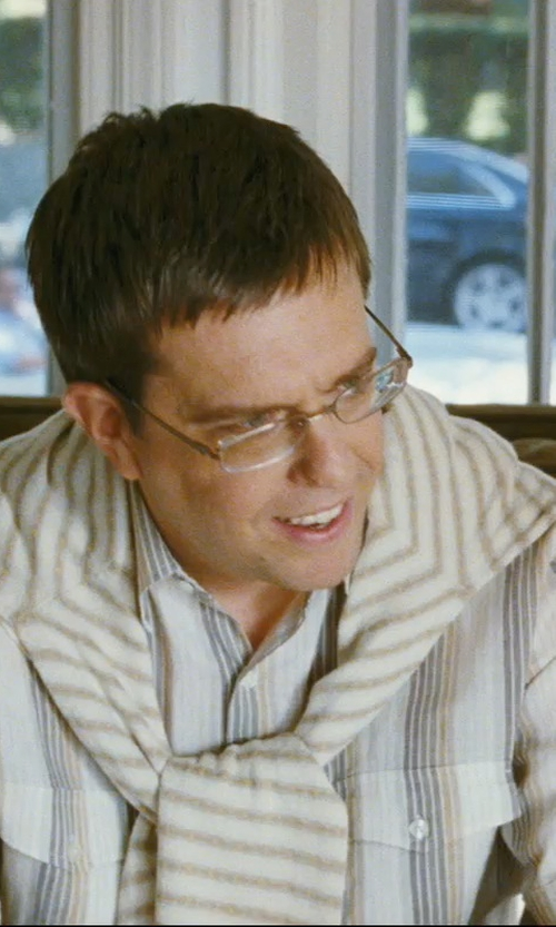Ed Helms with Tommy Bahama 'La Scala Breezer' Original Fit Linen Campshirt in The Hangover
