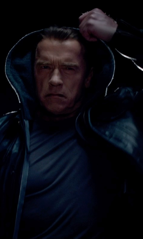 Arnold Schwarzenegger with Matchless Kensington Blouson (Modified) in Terminator: Genisys