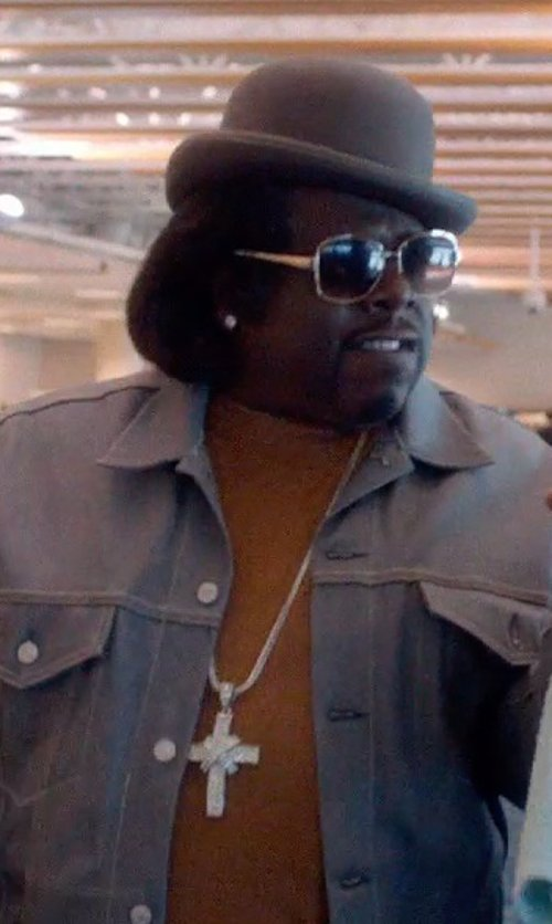 Cedric The Entertainer with Emporio Armani Steel Necklace With Cross Pendant in Top Five