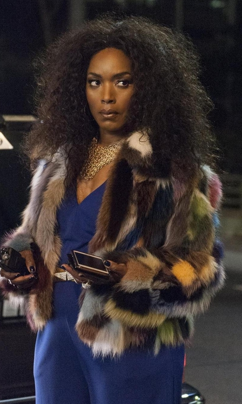 Angela Bassett with Emanuel Ungaro Sleeveless V-Neck Jumpsuit in American Horror Story