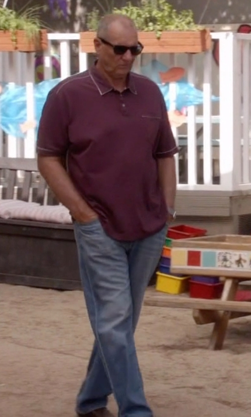 Ed O'Neill with 7 For All Mankind Carsen Straight-Leg Jeans in Modern Family