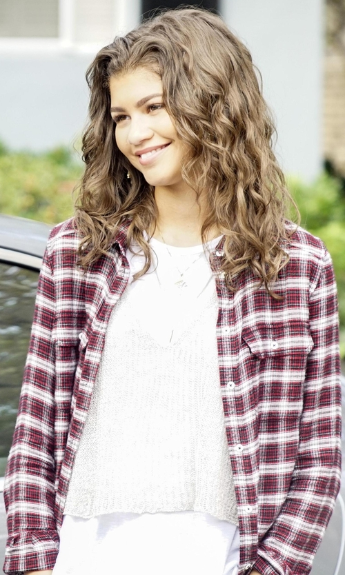 Zendaya with Paige Trudy Shirt in Black-ish