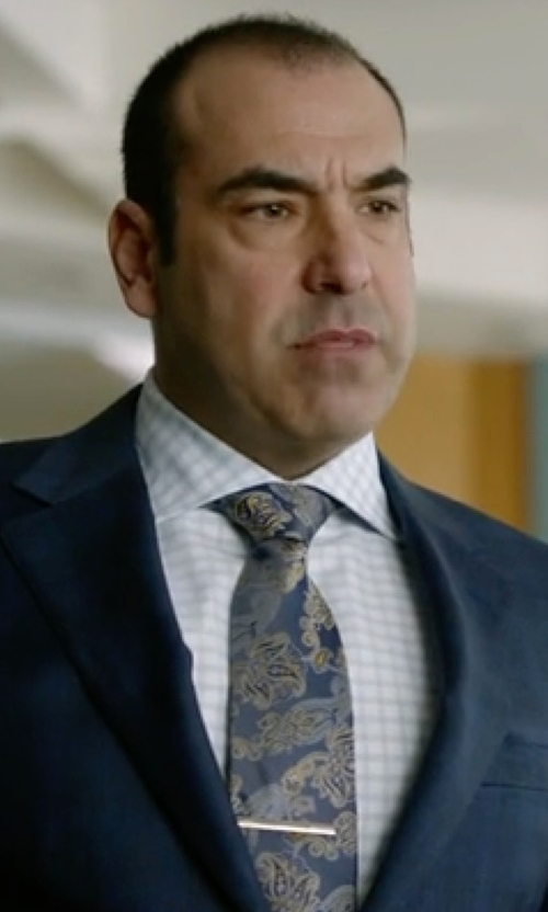 Rick Hoffman with Ermenegildo Zegna Chambray Melange Paisley Tie in Suits