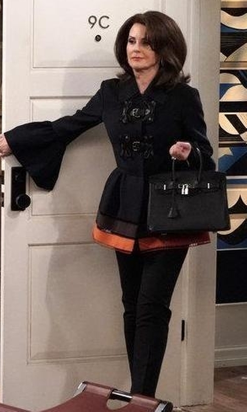 Megan Mullally with Theory Hartsdale B Good Wool Suit Pants in Will & Grace