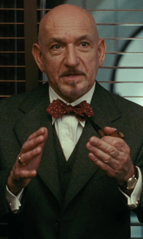 "Ben Kingsley with Versace ""Apollo"" Rose Casual Watch with Leather Band in Shutter Island"