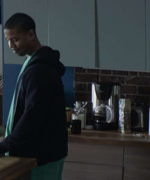 Michael B. Jordan with Capresso Plus 10-Cup Stainless Steel Coffee Maker in That Awkward Moment
