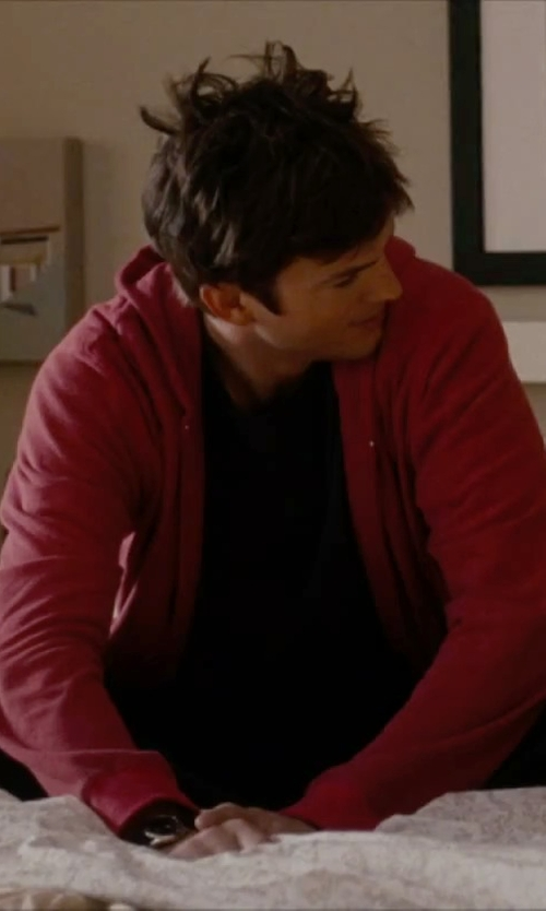 Ashton Kutcher with Diesel 'Simone' Hoodie Jacket in No Strings Attached