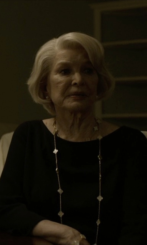 Jayne Atkinson with Goat Anise Silk Blouse in House of Cards