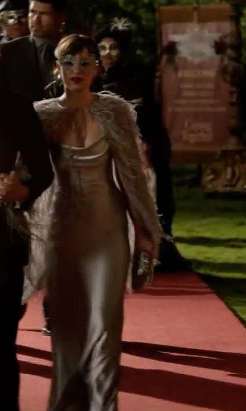 Dakota Johnson with Galvan Silk Dress in Fifty Shades Darker