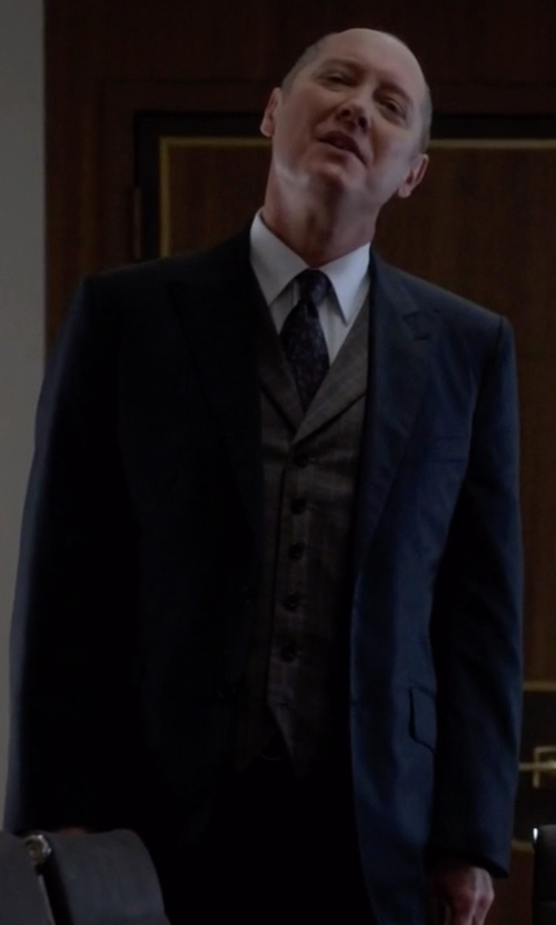 James Spader with Paul Smith London Two Piece Suit in The Blacklist