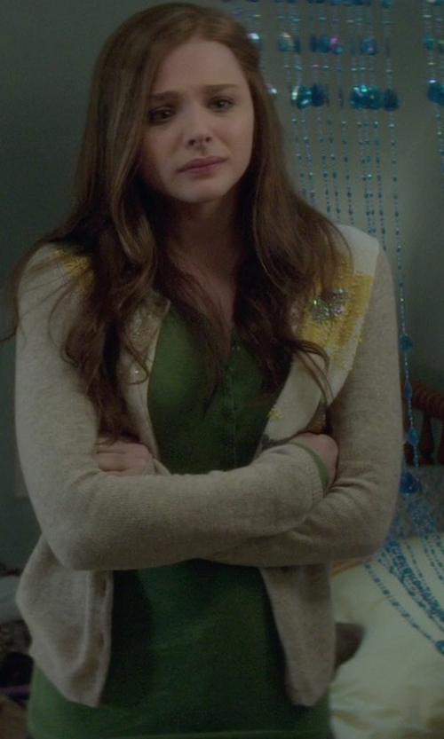 Chloë Grace Moretz with Escada Sport Women's Suleima Knit Cardigan Sweater in If I Stay