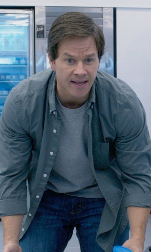 Mark Wahlberg with Dondup Denim Pants in Ted 2