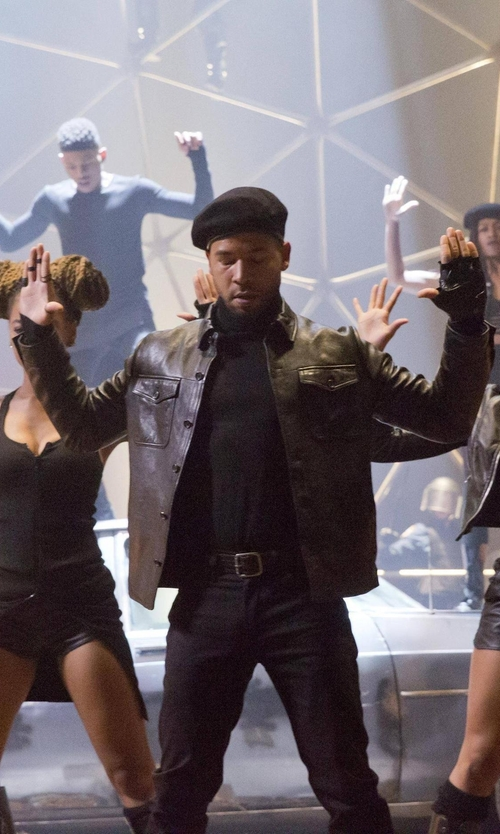 Jussie Smollett with BLK DNM Leather Jacket in Empire