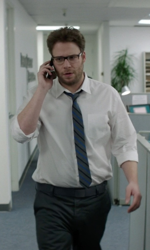 Seth Rogen with Hugo Boss Miles Sharp Fit End-on-End Dress Shirt in Neighbors