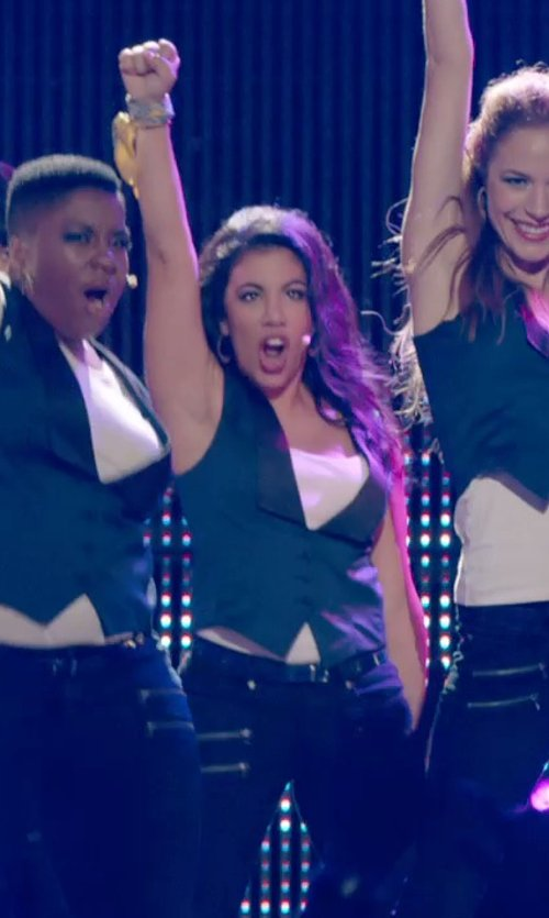 Chrissie Fit with Antonio Melani Vesra Suiting Vest in Pitch Perfect 2