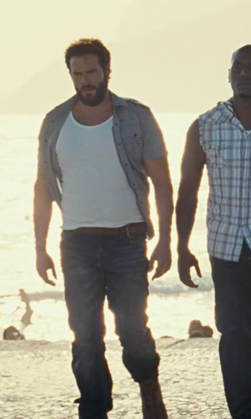 Matt Schulze with AG Adriano Goldschmied Graduate Slightly Relaxed Jeans in Fast Five