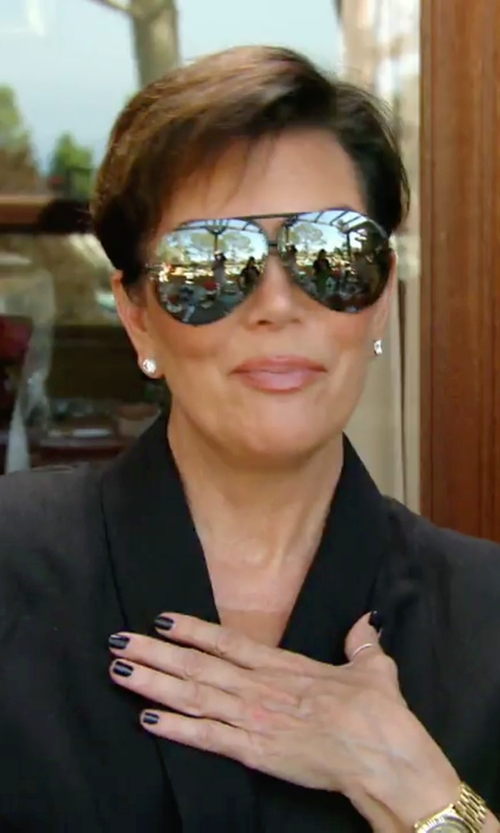 Kris Jenner with Gucci Metal Aviator Sunglasses in Keeping Up With The Kardashians