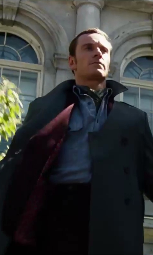 Michael Fassbender with LUDLOW CLASSIC SUIT PANT IN ITALIAN WOOL in X-Men: Days of Future Past