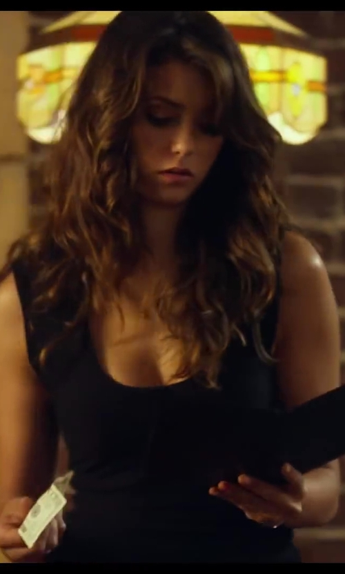 Nina Dobrev with Enza Costa Bold U Tank in Let's Be Cops