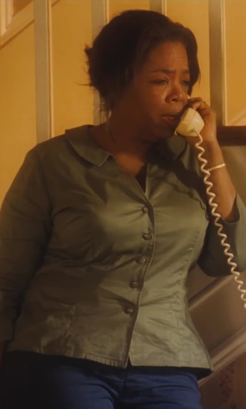 Oprah Winfrey with Port Authority Womens Crosshatch Easy Care Long Sleeve Button Down Shirt in Lee Daniels' The Butler