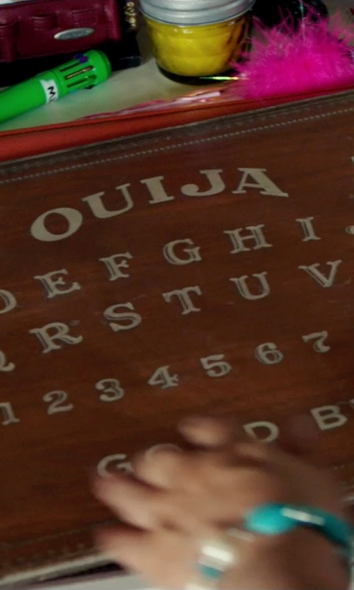 Shelley Hennig with Parker Brothers Ouija Board Mystifying Oracle in Ouija