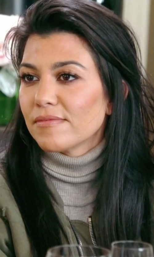 Kourtney Kardashian with Zero + Maria Cornejo Lina Turtleneck Top in Keeping Up With The Kardashians
