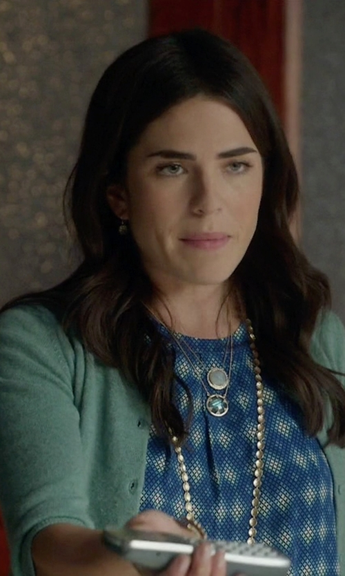 Karla Souza with Ron Herman Cashmere Baby Cardigan in How To Get Away With Murder