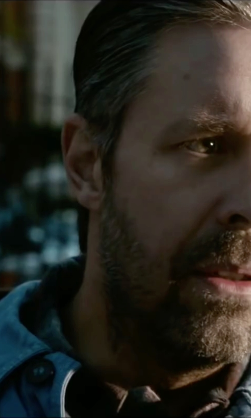 Paddy Considine with Polo Ralph Lauren Classic-Fit Denim Shirt in Miss You Already