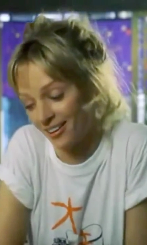 Uma Thurman with Meadham Kirchhoff Cotton Velvet T-Shirt in Kill Bill: Vol. 1