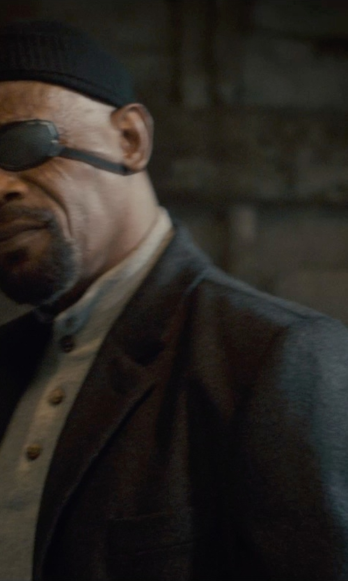 Samuel L. Jackson with Dolce & Gabbana Virgin Wool Buttoned Blazer in Avengers: Age of Ultron