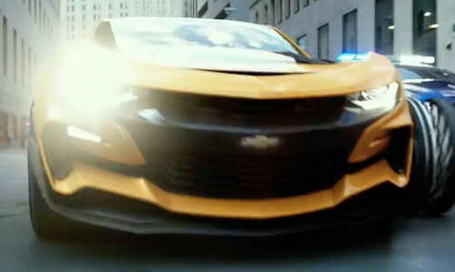 Unknown Actor with Chevrolet Camaro Coupe in Transformers: The Last Knight