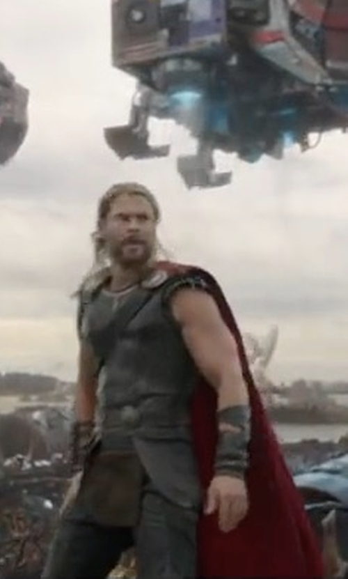 Chris Hemsworth with Mayes C. Rubeo (Costume Designer) Custom Made Thor Costume in Thor: Ragnarok