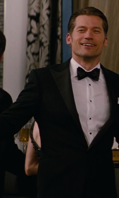 Nikolaj Coster-Waldau with Stephanie Platinum Crystal Champagne Flute in The Other Woman