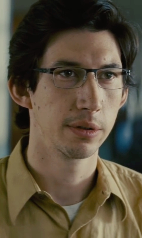 Adam Driver with Guess Dark Gun Eyeglasses in Midnight Special