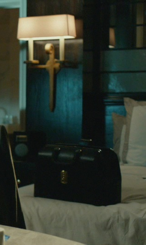 Randall Duk Kim with Givenchy Leather Briefcase in John Wick