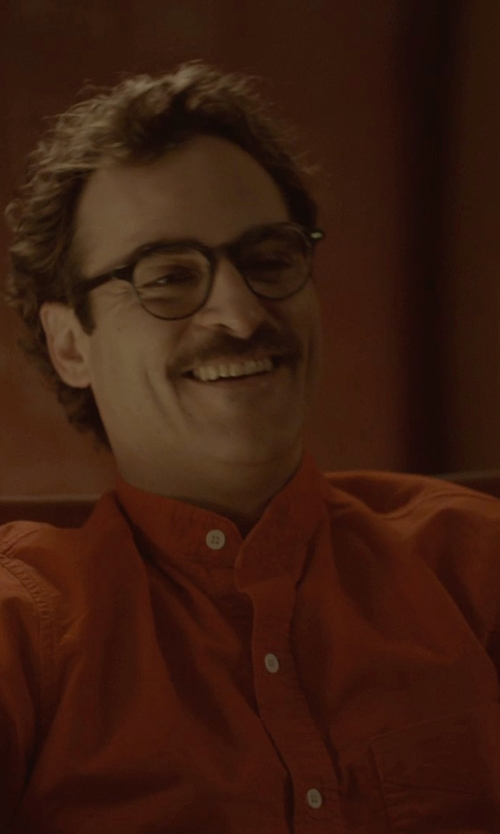 Joaquin Phoenix with Massimo Alba Mandarin Collar Shirt in Her