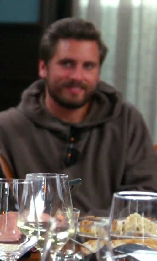 Scott Disick with KNYEW Raw Edge Hoodie in Keeping Up With The Kardashians