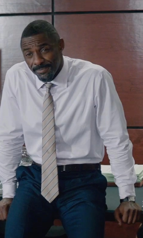 Idris Elba with Hugo Boss Leather Strap Watch in Molly's Game